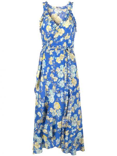 Платье миди с баской с запахом Jason Wu