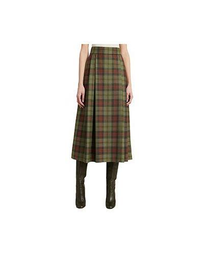 Зеленая шерстяная юбка Luisa Spagnoli