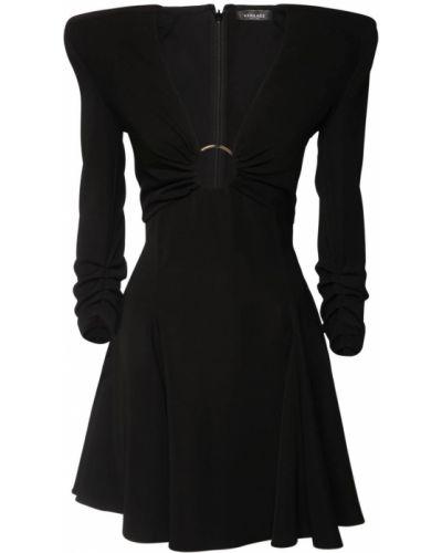 Платье металлическое - черное Versace