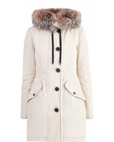 Куртка с капюшоном классическая с перьями Moncler