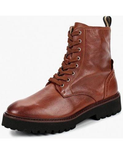 Кожаные ботинки осенние на каблуке Marc O'polo