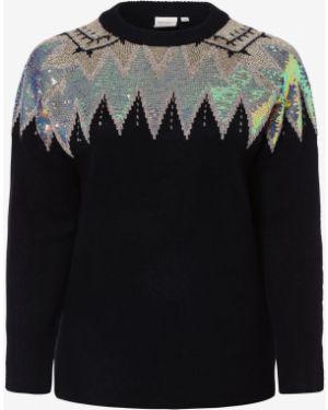 Niebieski sweter z cekinami Junarose