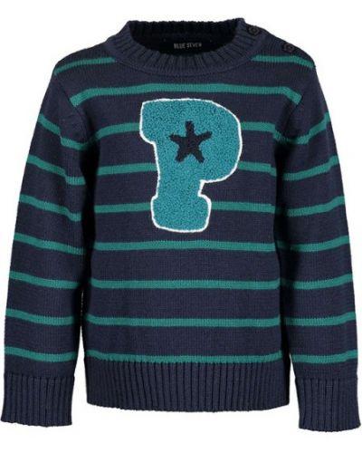 Синий свитер свободного кроя Blue Seven