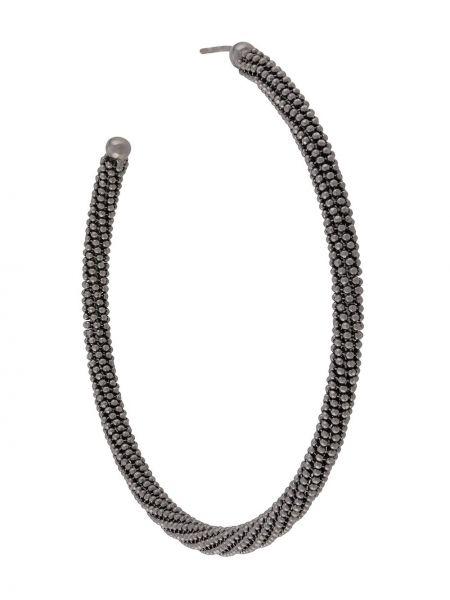 Серьги-кольца серебряный набор Brunello Cucinelli
