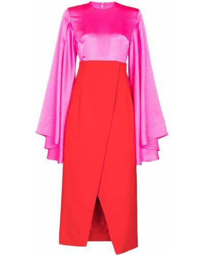 Хлопковое платье миди - красное Solace London