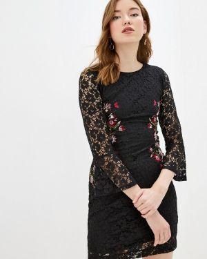Вечернее платье осеннее черное Desigual