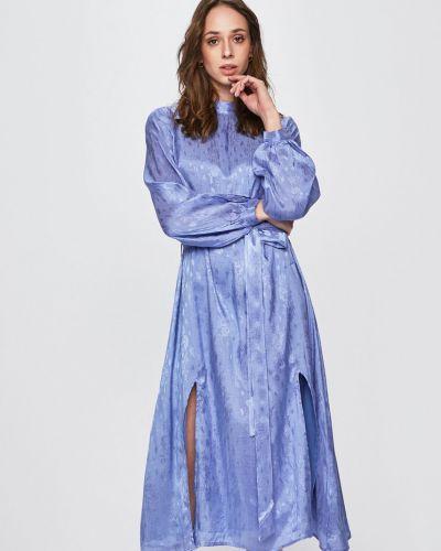 Платье миди с поясом из вискозы Glamorous