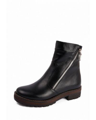 Кожаные ботинки осенние на каблуке Frivoli