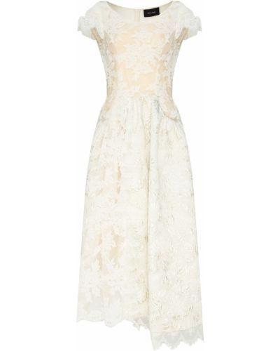 Вечернее платье миди ажурное Simone Rocha