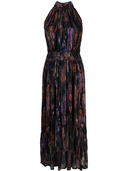 Черное платье миди без рукавов из вискозы Iro