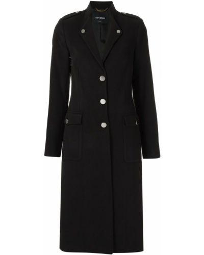 Длинное пальто на кнопках милитари Tufi Duek