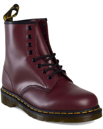 Кожаные ботинки на шнуровке высокие Dr. Martens