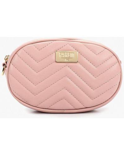 Кожаный сумка поясная розовый Fabretti