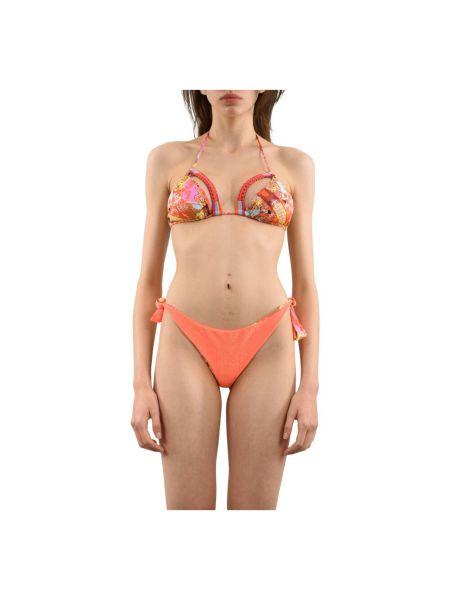 Pomarańczowy bikini F**k