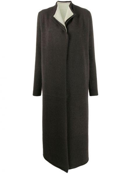 Z kaszmiru czarny płaszcz z długimi rękawami Frenckenberger