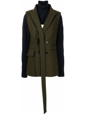 Шерстяной пиджак - синий Delada