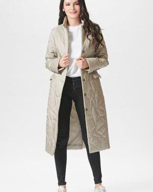 Теплое пальто на пуговицах D`imma Fashion Studio