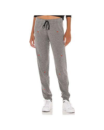 С кулиской шелковые серые брюки на резинке эластичные Michael Lauren
