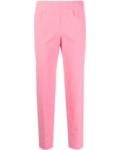 Хлопковые розовые укороченные брюки с разрезом Piazza Sempione