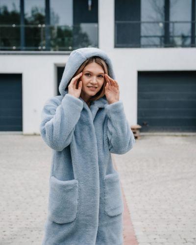 Шуба из овчины - голубая Rozetka
