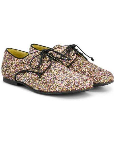 Туфли с глиттером на шнуровке Prosperine Kids