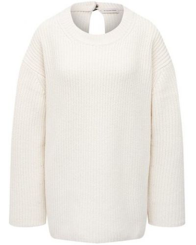 Шерстяной белый свитер By Malene Birger
