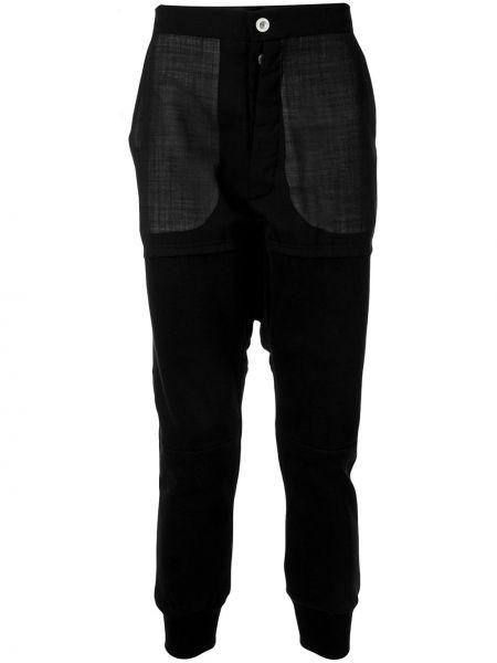 Прямые брюки черные с карманами Unravel Project