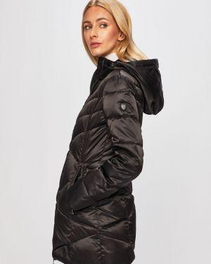 Прямая черная стеганая куртка Ea7 Emporio Armani