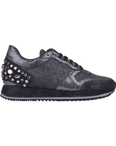 Кожаные кроссовки - серые Pertini