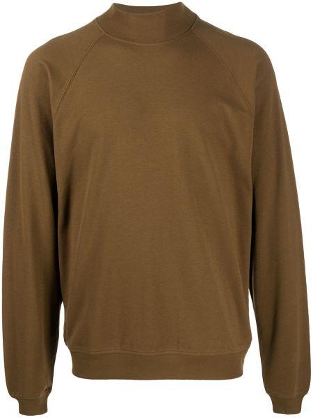 Brązowa bluza bawełniana z raglanowymi rękawami Lemaire