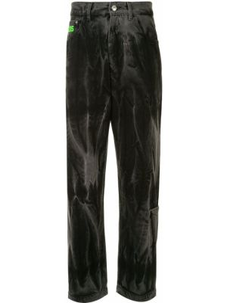 Klasyczne czarne jeansy z wysokim stanem Gcds
