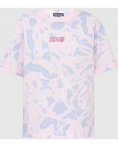 Джинсовая футболка - розовая Versace Jeans Couture