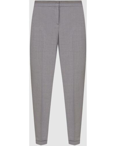 Шерстяные серые укороченные брюки Fabiana Filippi