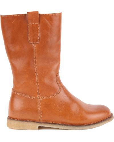 Сапоги коричневый кожаный Gallucci