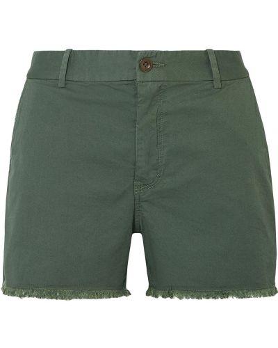 Зеленые хлопковые шорты с поясом Nili Lotan