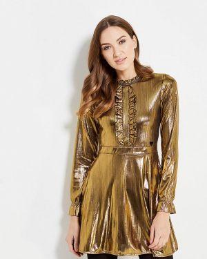 Вечернее платье золотое Fornarina