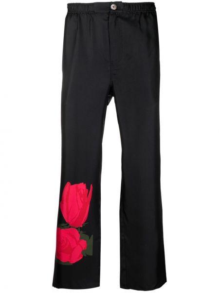 Czarne spodnie z printem Soulland