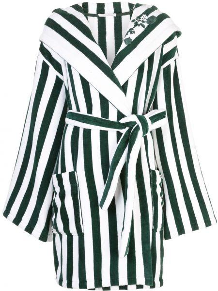 Пальто с капюшоном длинное зеленое Oscar De La Renta