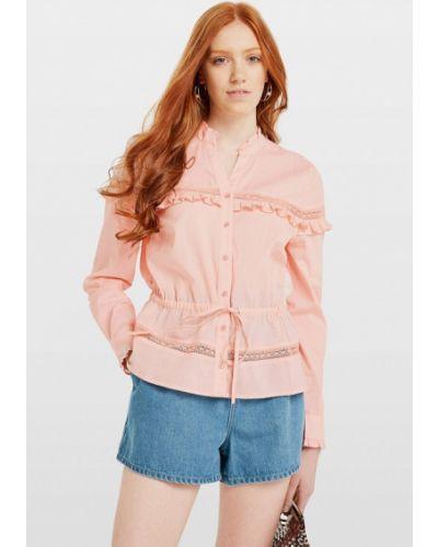 Блузка с длинным рукавом розовая Miss Selfridge