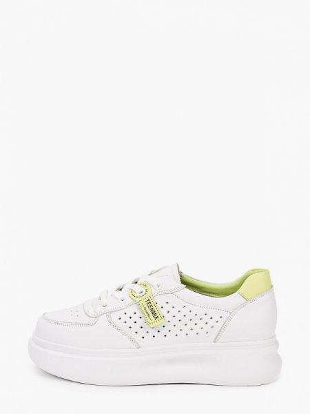 Белые кроссовки из натуральной кожи Sprincway