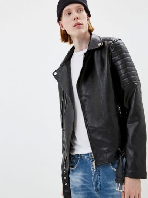 Черная кожаная куртка Terance Kole