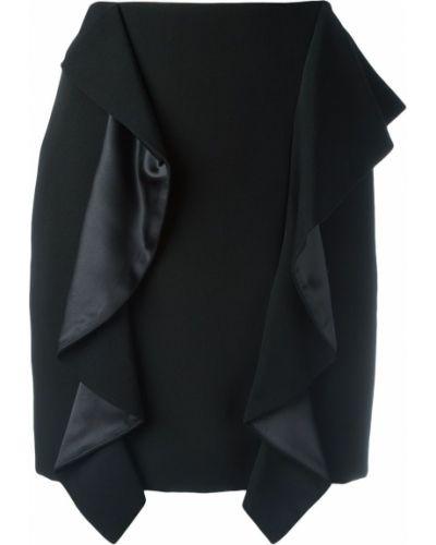 Czarna spódnica mini z wysokim stanem elegancka Givenchy