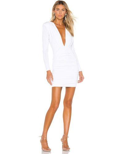 Biała sukienka długa z długimi rękawami Nookie