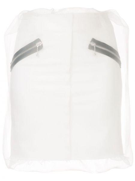 Пышная с завышенной талией юбка мини на молнии с карманами Yang Li