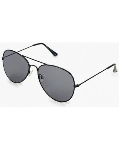 Солнцезащитные очки авиаторы черные Sela