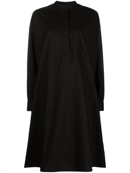 С рукавами черное платье макси трапеция Mm6 Maison Margiela