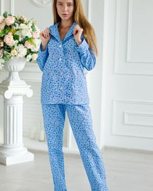 Пижама с брюками фланелевая с цветочным принтом Lika Dress