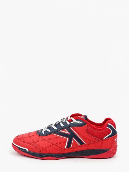 Кожаные красные кроссовки Kelme