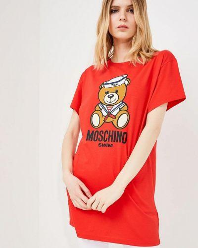 Красная туника Moschino