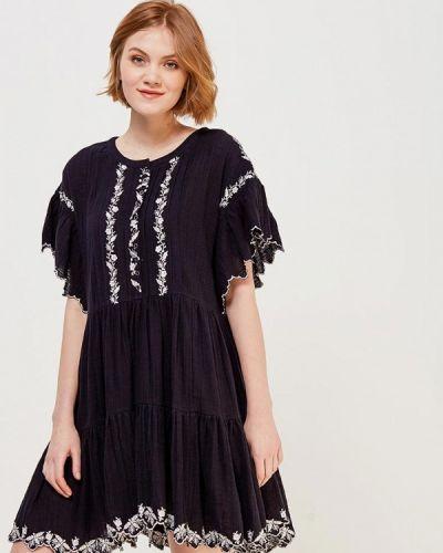 Черное платье прямое Free People